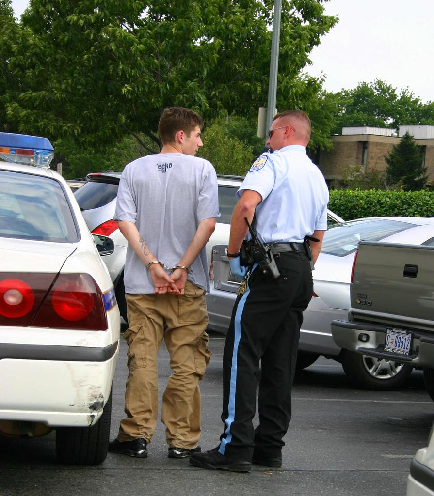 Drug arrest by police in Tampa, FL